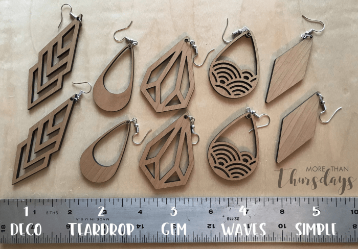 wood earrings - What is Glowforge? laser cutter