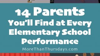 14 parents you'll see at every elementary school performance