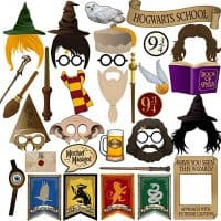 Wizard Party Photo Booth Props