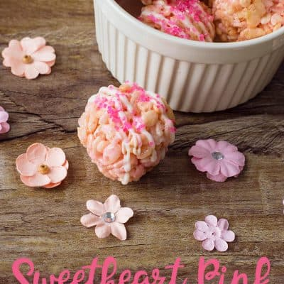 Sweetheart Pink Cereal Treats