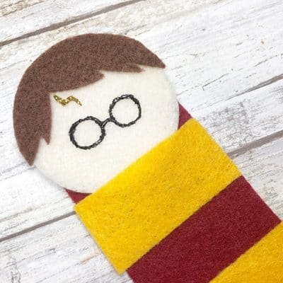 Harry Potter Felt Bookmark Project