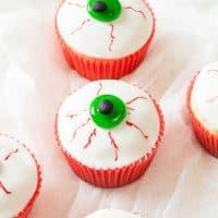 Creepy Eyeball Cupcakes