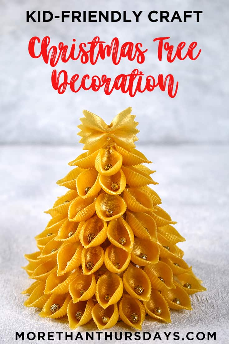 Christmas Decoration kids can make: Pasta Tree