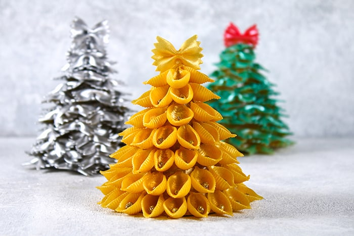 Finished trees - Kid's Craft Pasta Tree