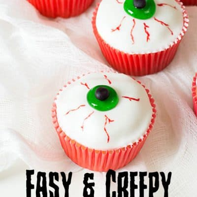 Creepy Eyeball Cupcakes