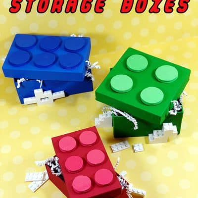 DIY Lego Storage Boxes