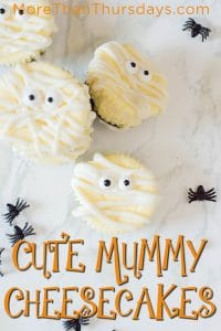 Cute Mummy Cheesecakes