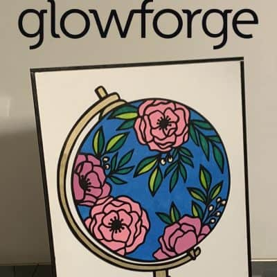 Mosaic style signs with Glowforge