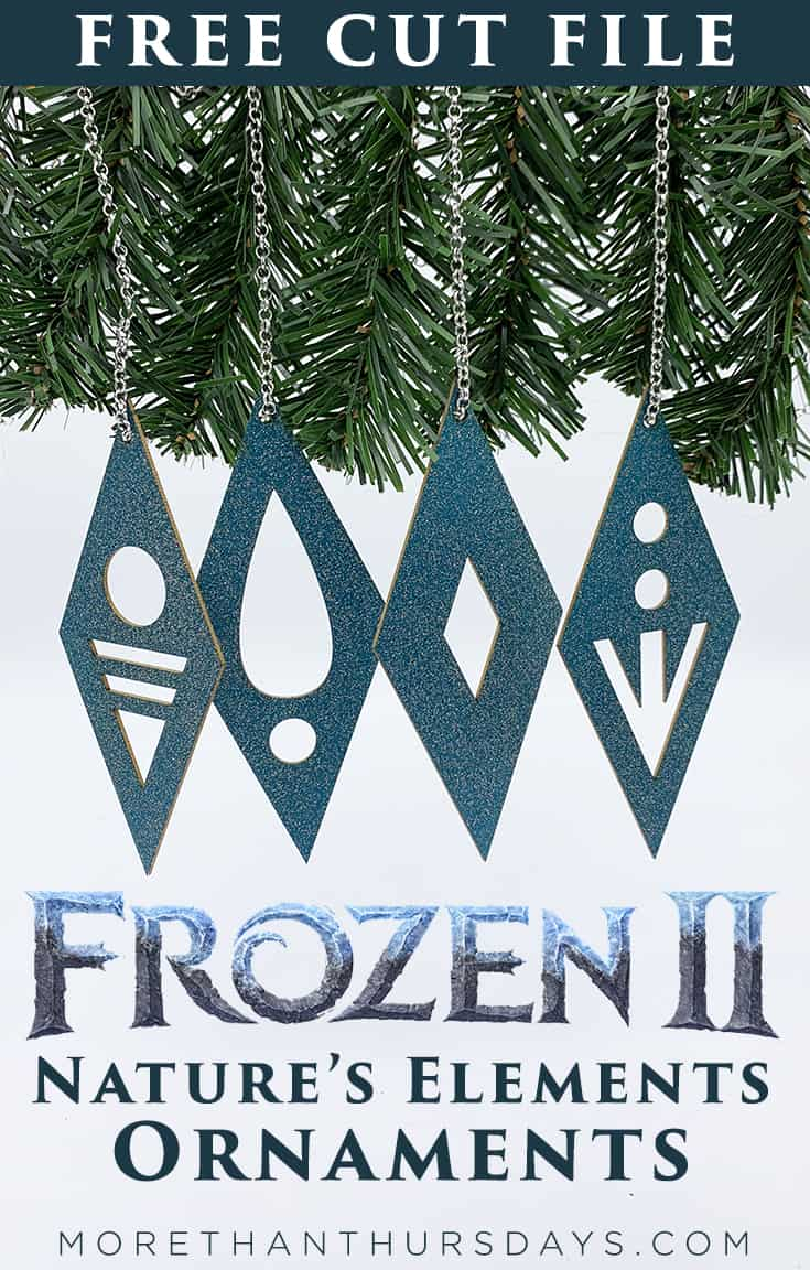 Frozen 2 Ornaments Cut File