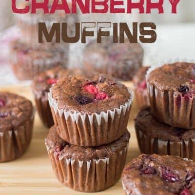 Chocolate Cranberry Muffins