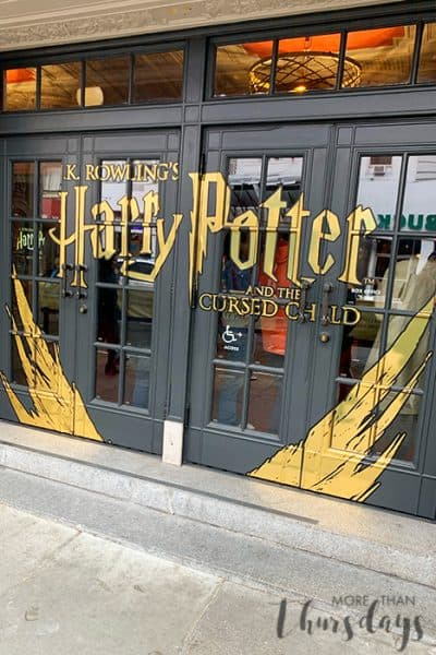 Harry Potter Cursed Child SF Theater Doors