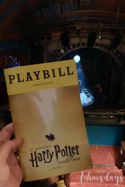 Harry Potter Cursed Child in San Francisco Playbill