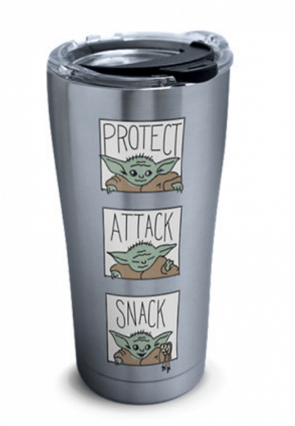Protect Attack Snack Baby Yoda Tumbler
