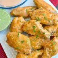 Sweet Sriracha Baked Chicken Wings