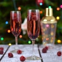 Raspberry Chambord & Champagne Cocktail