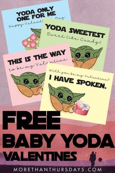 Baby Yoda Valentine Printable
