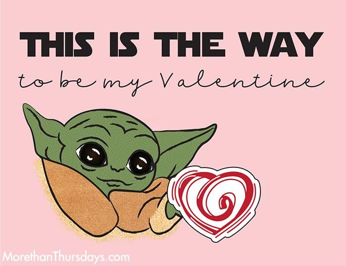 Baby Yoda Valentine 1