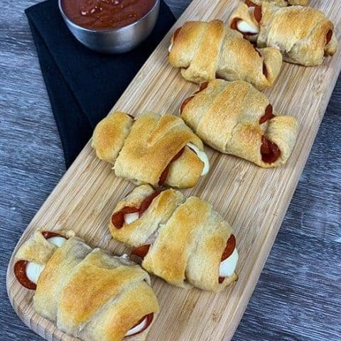 Pepperoni Pizza Crescent Rolls