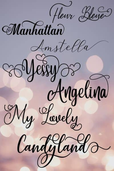 Romantic fonts for your wedding