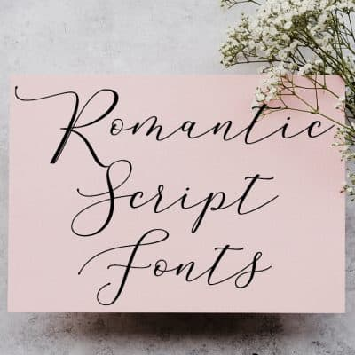 Romantic fonts