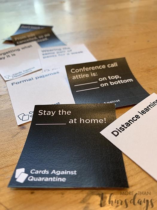 Cards Against Quarantine Cards