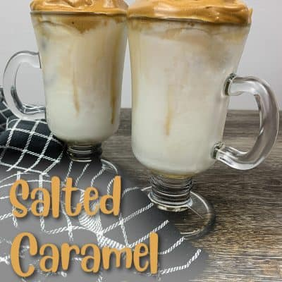 Salted Caramel Dalgona Coffee
