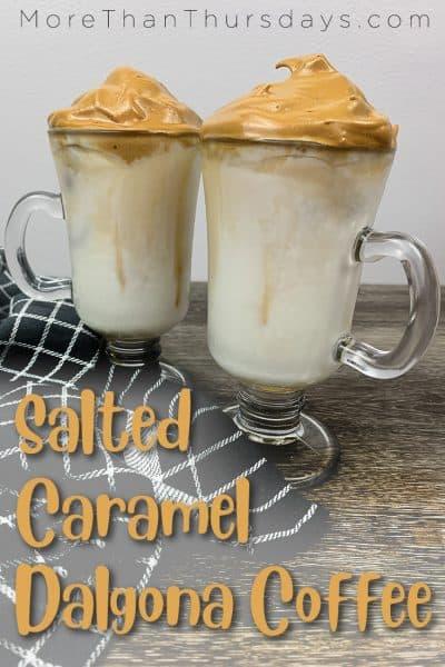 Salted Caramel Dalgona Coffee