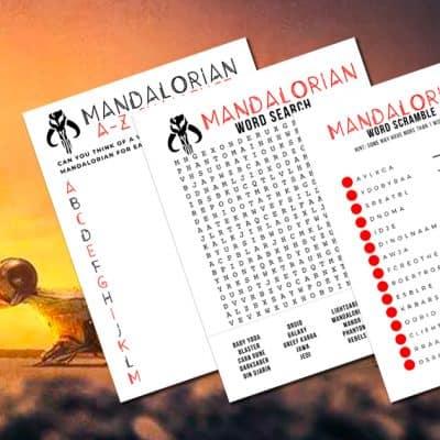 Mandalorian Activity Sheets